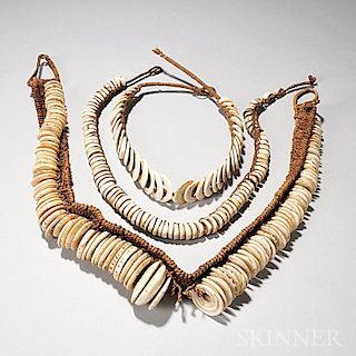 Three New Guinea Shell Necklaces