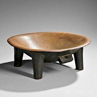 Fiji Islands Carved Wood Kava Bowl