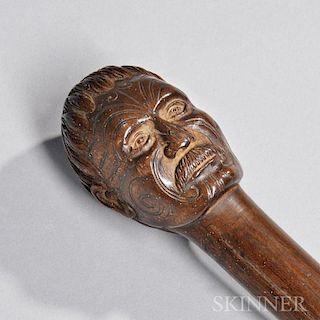 Maori Carved Wood Staff