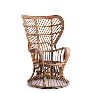 Wicker chair, c. 1950