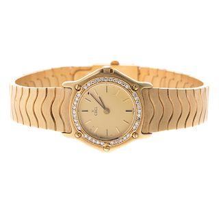 A Lady's 18K Ebel Diamond Cocktail Wrist Watch