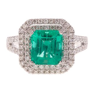 A 2.60ct Emerald & Diamond Ring in Gold