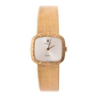 """A Lady's Rolex """"Cellini"""" 18K Wrist Watch"""