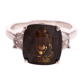 A Rare 8.44ct Alexandrite & Diamond Ring in Gold