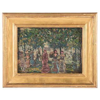 "Maurice Prendergast. ""Sunday in the Park,"" oil"