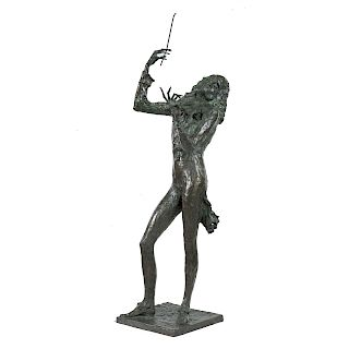"Dmitry Gerrman. ""Violinist,"" bronze"