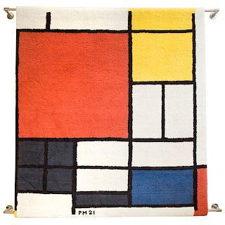 Piet Mondrian. Untitled, tapestry