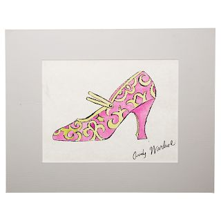 Andy Warhol. Pink Shoe, lithograph