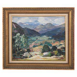 "Peter Bela Mayer. ""New Hampshire Hills,"" oil"