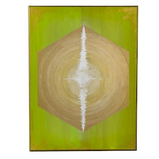 "Les Harris. ""Life,"" oil on canvas"