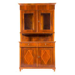German fruitwood veneer inlaid cabinet