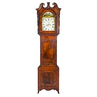 William IV mahogany tall case clock