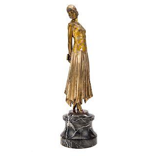 Demetre Chiparus, Book Woman bronze