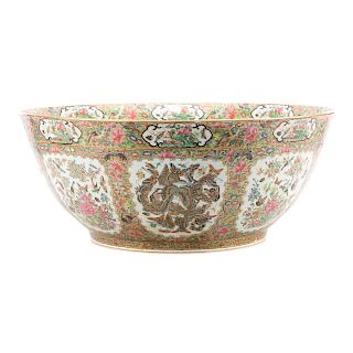 Rare monumental Chinese Export punch bowl