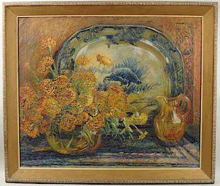 "Lilian J. Whish ""Amber & Marigolds"" O/C"