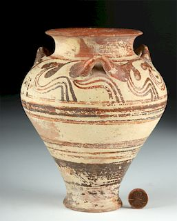 Fine Greek Mycenaean Bi-Chrome Pottery Pithos