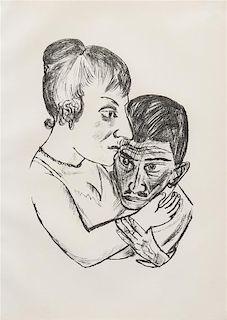 Max Beckmann, (German, 1884-1950), Lovers, 1922