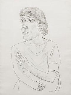 Max Beckmann, (German, 1884-1950), Sarika mit Zigarette, 1922