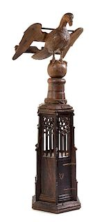 A French Gothic Carved Oak Eagle Lectern Width 25 3/4 inches.