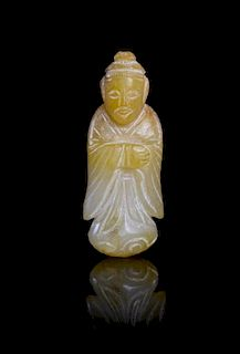 A Jade Figure of an Official Height 2 inches.