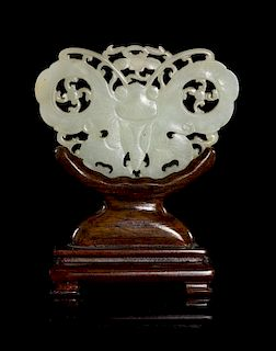 A Jade Plaque Width of plaque 3 inches.