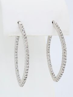 Unique Inside Out Style Diamond Earrings