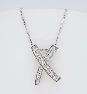 Diamond X Pendant Necklace