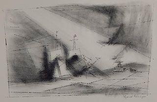Lyonel Feininger lithograph