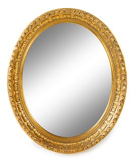 A French Giltwood Mirror Height 30 x width 25 inches.
