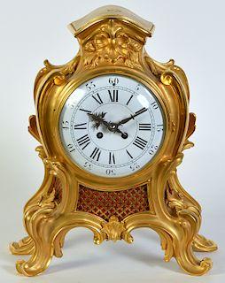 French Dore Bronze Bracket Mantle Clock