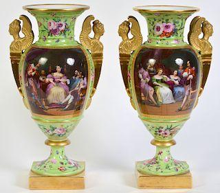 Pr. 19th C. English Porcelain Vases