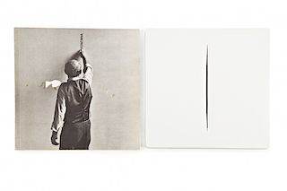 Lucio Fontana, Untitled, Plastic manifold Lucio Fontana, Sin título, Múltiple en plástico