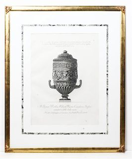 An Italian Engraving Height 22 x width 16 inches.