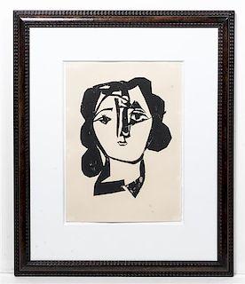 After Pablo Picasso, (Spanish, 1881-1973), Tete de Femme, 1945