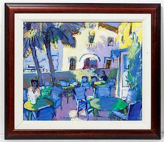 Ricardo Macarron, (Spanish, 1926-2004), Garden Cafe