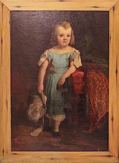 * Artist Unknown, (Likely American, late 19th century), Portrait of a Young Girl