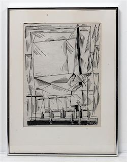 Lyonel Feininger, (American, 1871-1956), Gelmeroda, 1920