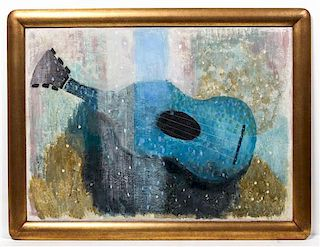Wray Manning, (American, 1887-1978), Blue Guitar