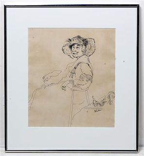 Dorothy Rutka, (American, 1907-1985), Untitled (Seated Woman)