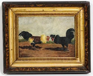Artist Unknown, (Late 19th century), Two Roosters