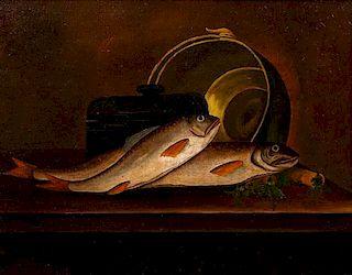 Artist Unknown, (19th century), Fish in the bucket