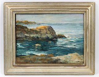 Charles Paul Gruppe, (American/Canadian, 1860-1940), Rocky Coastal Scene