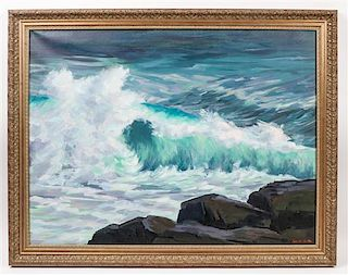 Lee Winslow Court, (American, 1903-1992), Turbulent Sea