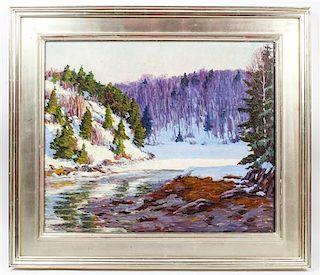 John Haapanen, (American, 1891-1968), Winter Inlet, 1926