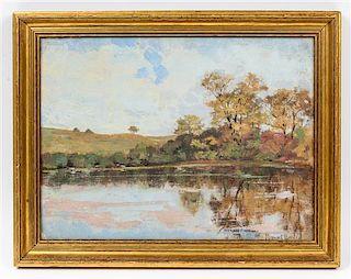 John Stewart Barney, (American, 1869-1925), Pond Reflections