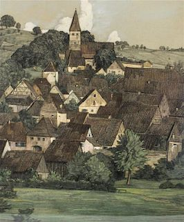 Karl Hermann Muller-Samerberg, (German, 1869-1946), View of German Town