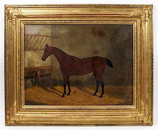 F. Clifton, (British, 1830-1898), Horse in Stall