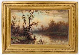 Albert Babb Insley, (American, 1842-1937), Idyll Boat Ride