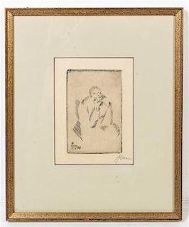 * Josef Achmann, (German, 1885-1958), Alter Mann, 1912
