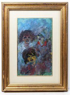* Mino Maccari, (Italian, 1898-1989), Three Women